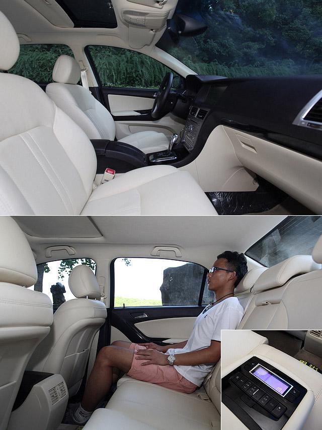 拥有4,870mm的车厂与2,755mm的轴距,思锐的车内空间自然不成问题,175cm的乘客进入后排,膝部空间有两拳多近3拳,足以满足大多数乘客的需求,而且座垫硬度适中,对腰部的承托也称得上足够,长途乘坐不易疲累。后排座椅中央扶手处还设置了空调以及娱乐系统的调节按钮。