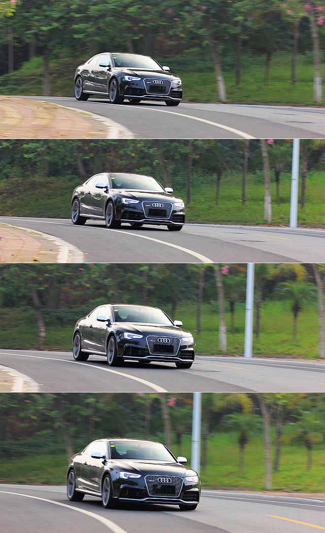 尽管有57.3%的车重都落在了RS5的前轴上,但在山道上游走的过程当中,却几乎感受不到车头的沉重。整辆车在弯道当中,就如同行驶在路轨上一般,除了路面的颠簸带来的冲击感之外,驾驶者很难去触摸其极限所在。